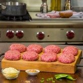 (20) 2 oz. Grass-Fed Organic Mini Burgers - Sliders